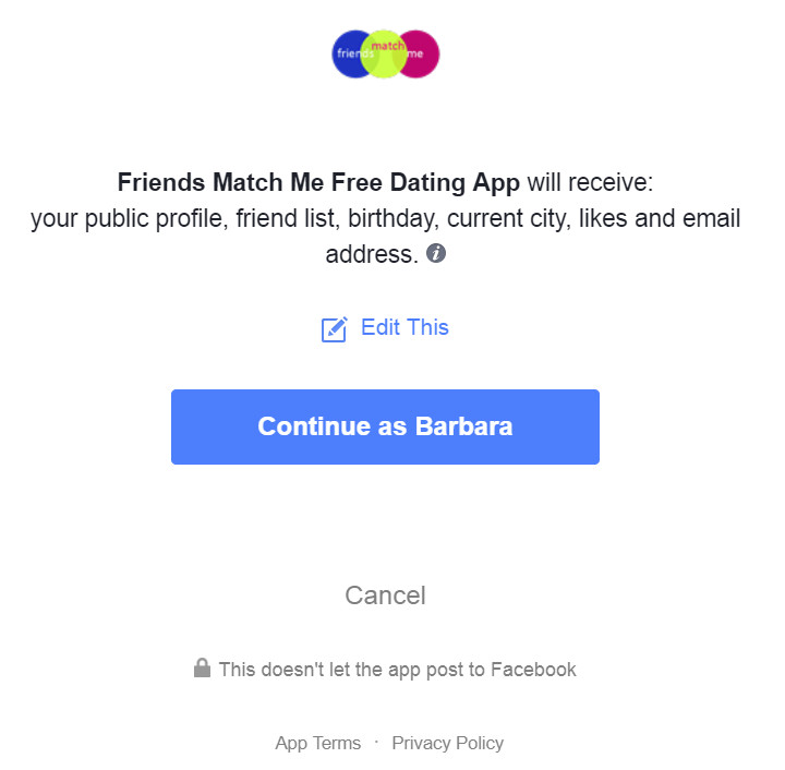 Friends Match Me, Facebook Dating App, Join