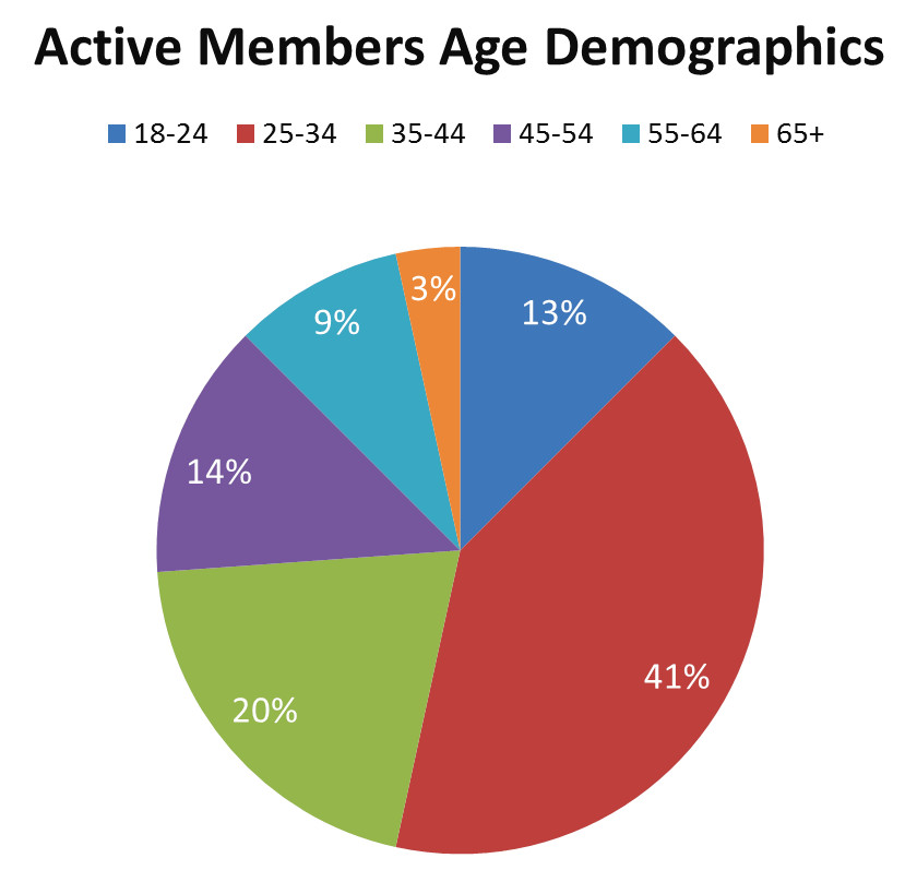 friendsmatchme active members age demographics