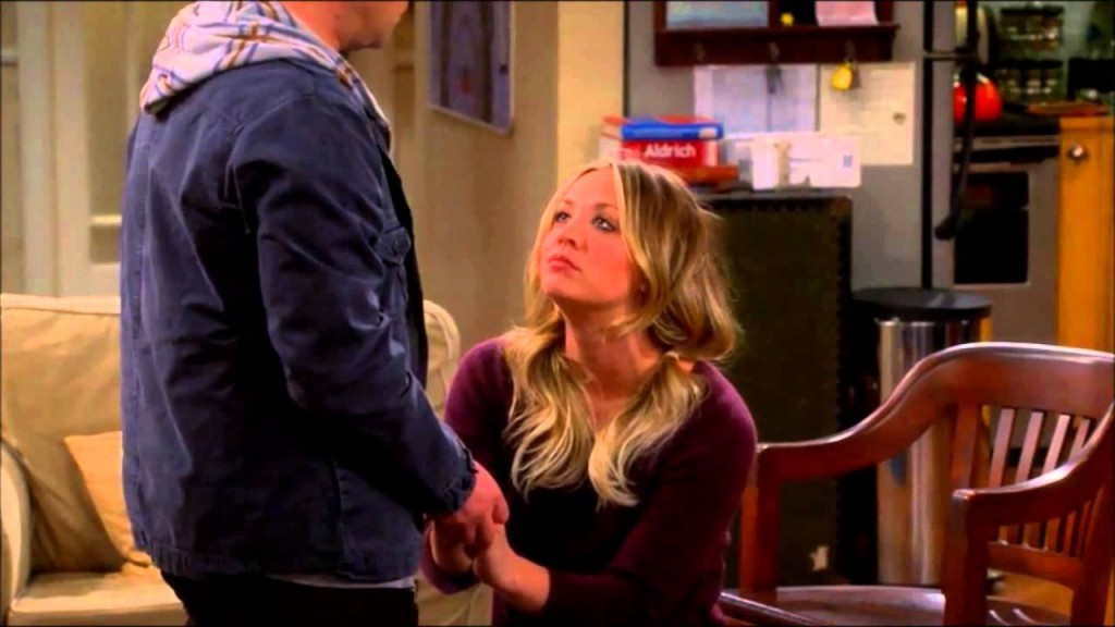Penny proposes to Leonard, Big Bang Theory