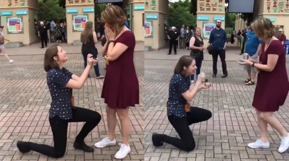 surprise double marriage proposal